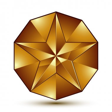 Wonderful vector template with golden star symbol, best for use