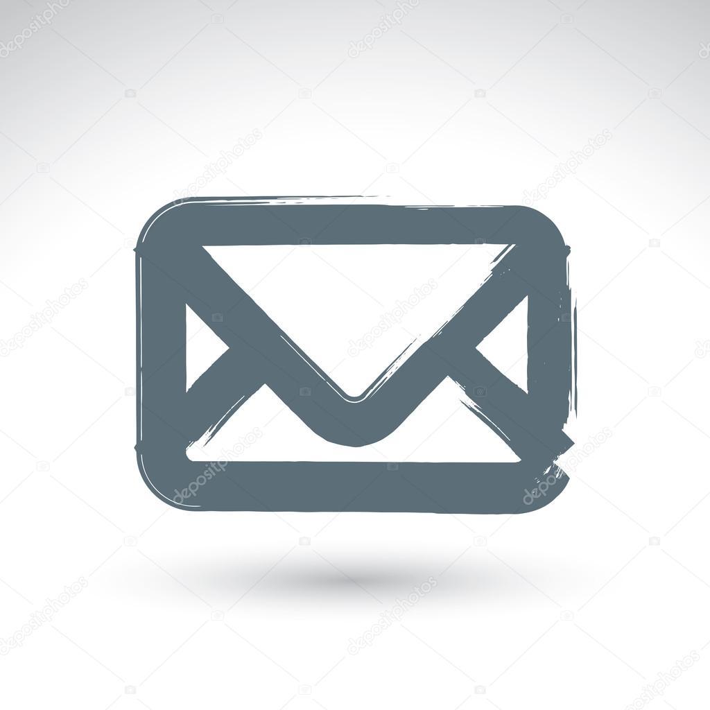 Icone Courrier Vecteur Simple Dessines A La Main Pinceau De Dessin