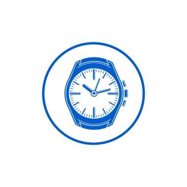 Simple wristwatch graphic illustration
