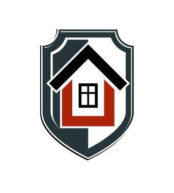 Heraldic symbol with house.