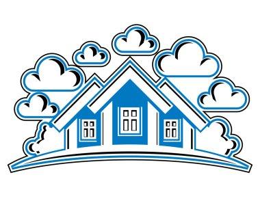 Houses detailed illustration