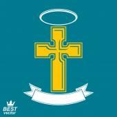 Religiöse Kreuz emblem