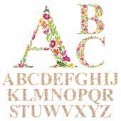Fotografie Natural alphabet letters