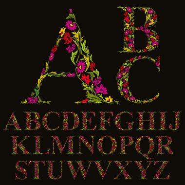 Natural alphabet letters