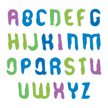 Hand-painted multicolored capital letters