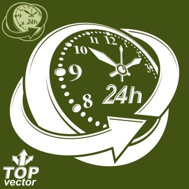 Round 24 hours clock