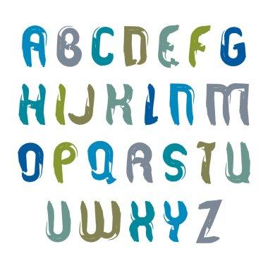 Handwritten watercolor capital letters