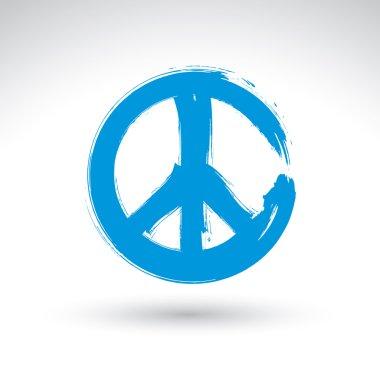 Hand drawn vector peace icon