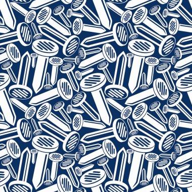 3d nails seamless pattern