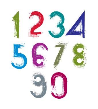 Calligraphic brush numbers