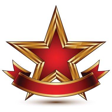 Template with pentagonal golden star