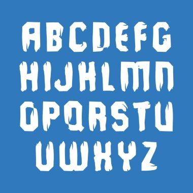 Handwritten white uppercase letters