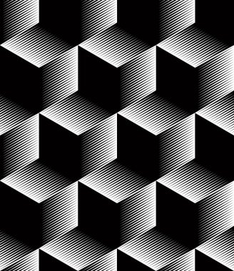 Monochrome  abstract geometric  pattern
