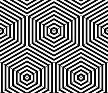 Black and white  abstract geometric    pattern.