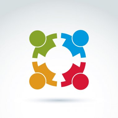 Teamwork and business team icon
