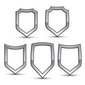 Fotografie Set of heraldic emblems