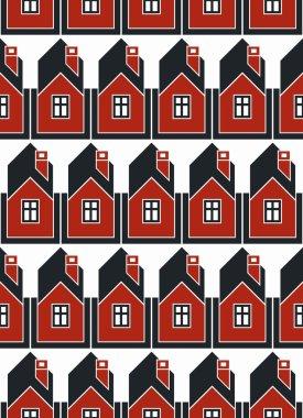 Real estate theme seamless pattern
