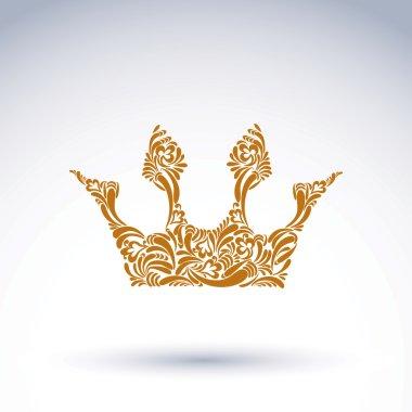 Flowers-patterned crown design element