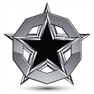 pentagonal star placed in a silver ring