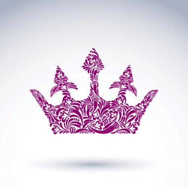 Flowers-patterned crown design element