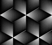 Fotografie Geometric black and white background