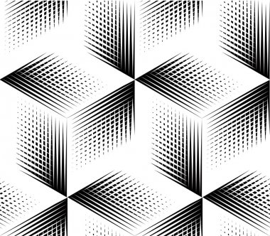 Pattern with three-dimensional geometric figures.