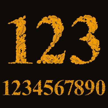 Orange floral numbers
