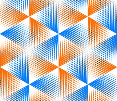 Pattern with 3d geometric figures