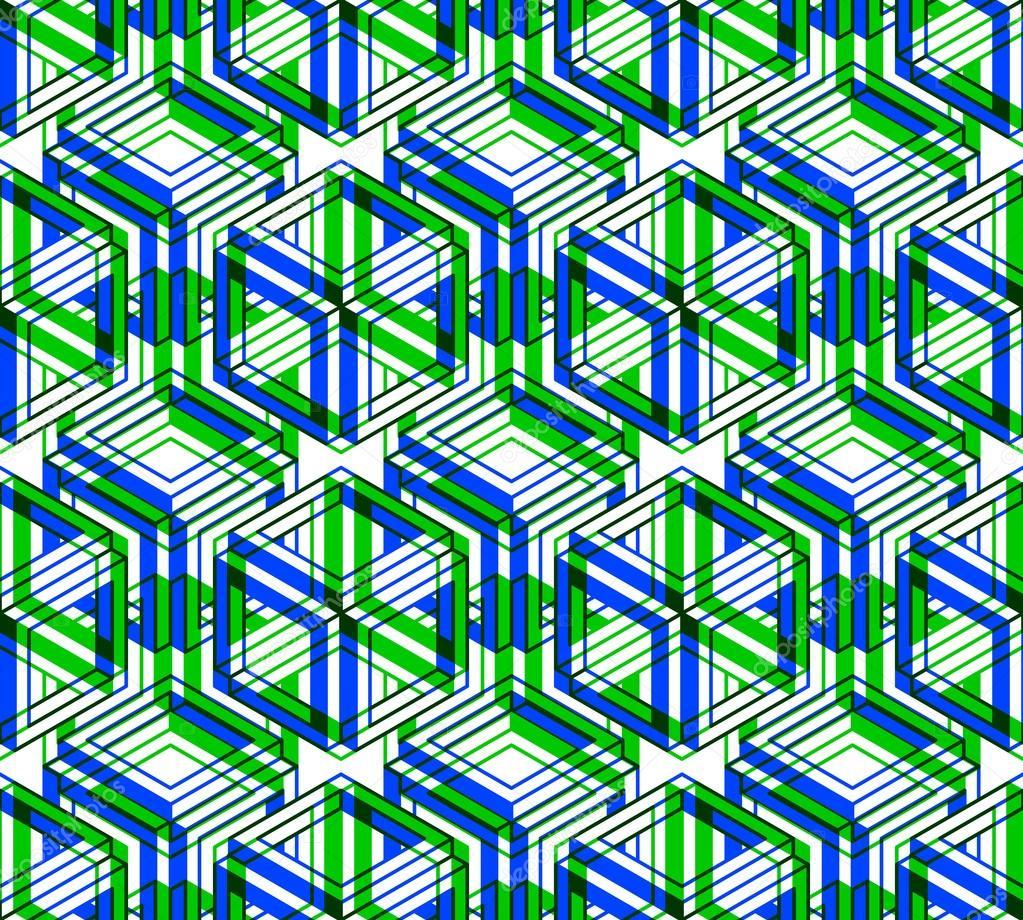 Reticolo con le figure geometriche tridimensionali for Immagini tridimensionali gratis