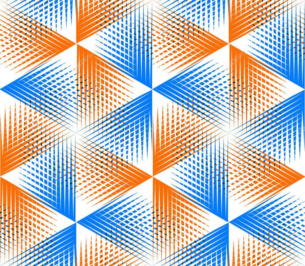 Patr n con figuras geom tricas 3d vector de stock for Imagenes abstractas 3d