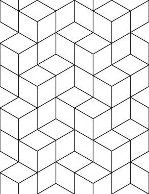 Futuristic continuous contrast pattern