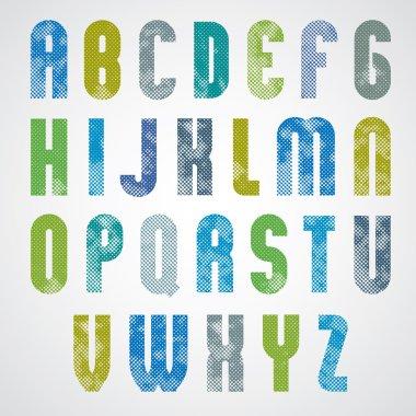 geometric poster letters alphabet design