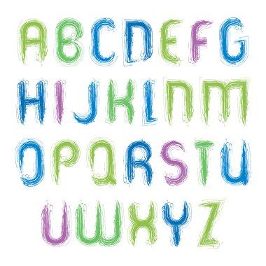 vivid alphabet capital letters set