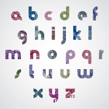 Simple modern style font