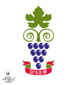 Fényképek Stylized grapes vine illustration.