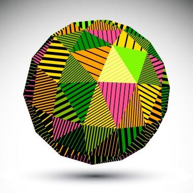 Vivid geometric spherical object