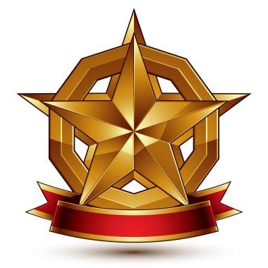 Branded golden symbol