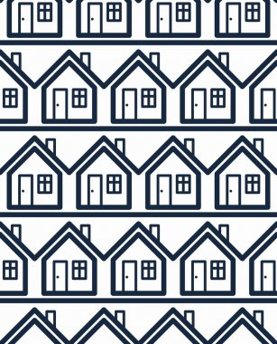 Simple houses continuous background.