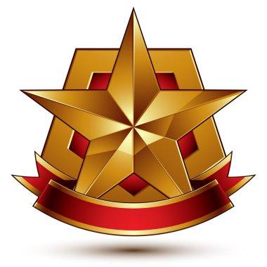 pentagonal golden star