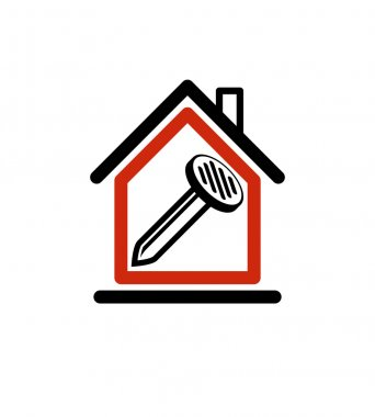 House with work tools