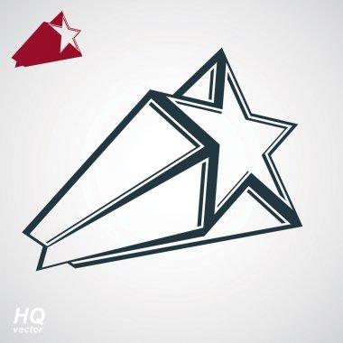 pentagonal comet star
