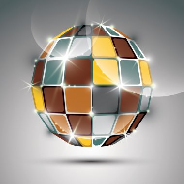 3D metal gold futuristic globe