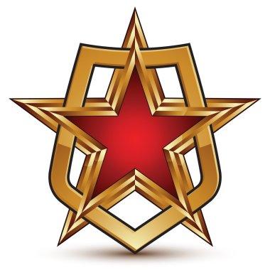 pentagonal golden star symbol