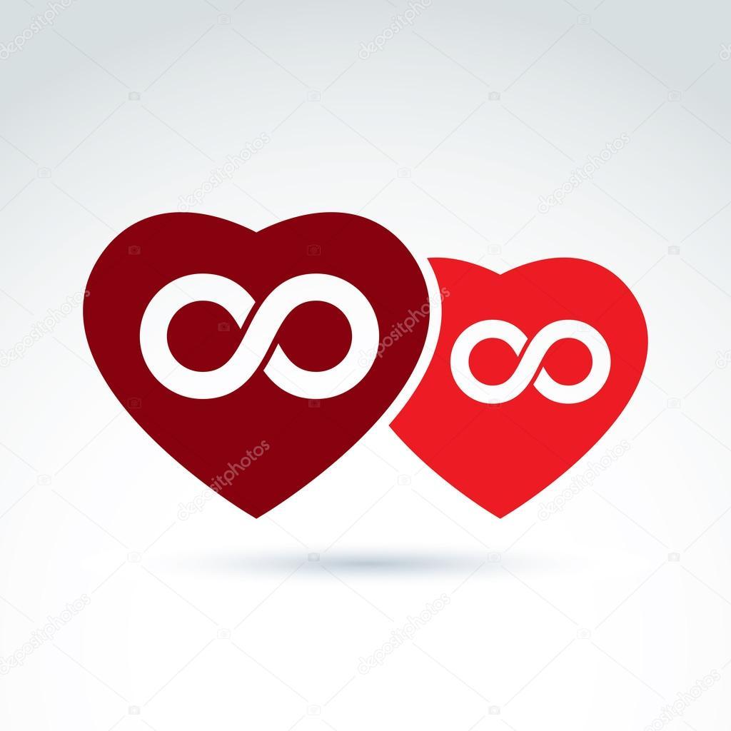 Two hearts and infinity symbols stock vector ostapius 86920246 two hearts and infinity symbols stock vector buycottarizona Choice Image