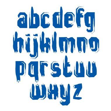 Handwritten lowercase letters
