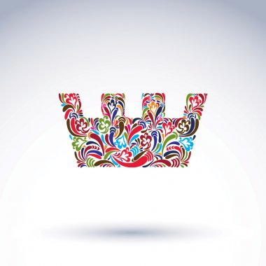 Colorful flower-patterned crown