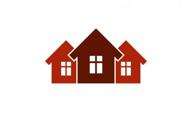 Abstract simple country houses