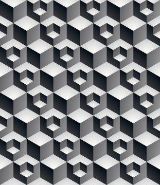 Regular contrast textured endless pattern