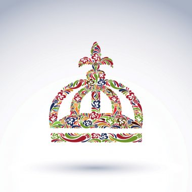 Elegant flower-patterned bright crown