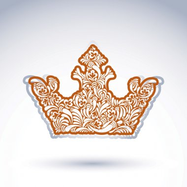 Flower-patterned imperial crown